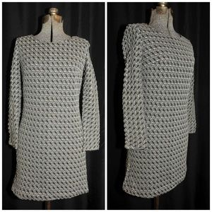 Vintage 60's 70's Bubble Knit Poly Dress Size XS/S